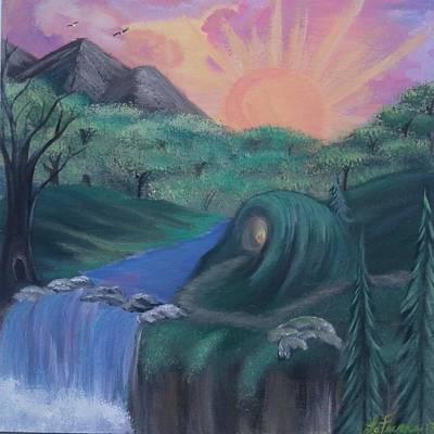 Bob Ross Style Painting - Seize The Day by Lori Lafevers