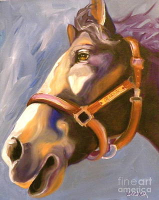 Thoroughbred Horse Painting - Seize The Day by Susan A Becker