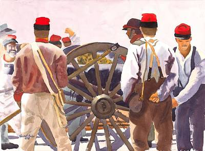Conservative Painting - Seizing Fort Sumter by Vincent Bobo