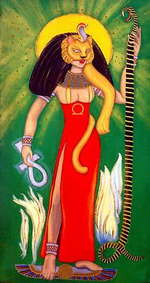 Egyptian Goddess Painting - Sekhmet by Diveena Seshetta