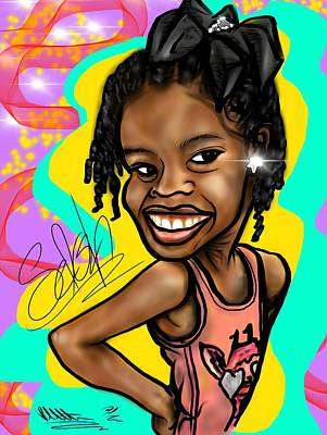 Digital Art - Selah Caricature  by Robert Watson