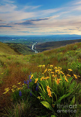 Photograph - Selah Spring Sunset by Mike Dawson