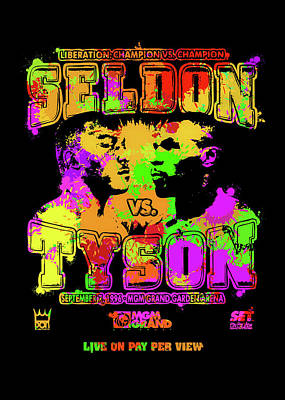 Digital Art - Seldon Tyson Pop Art by Ricky Barnard