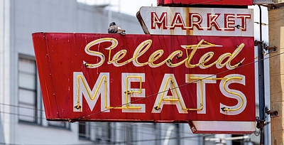 Selected Meats Art Print