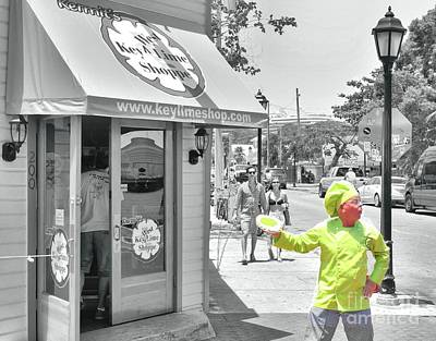 Photograph - Selective Color Key Lime Pie Man by Janette Boyd
