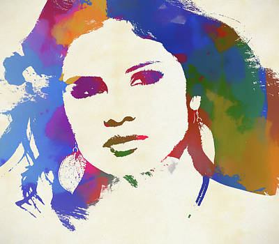 Painting - Selena Gomez by Dan Sproul