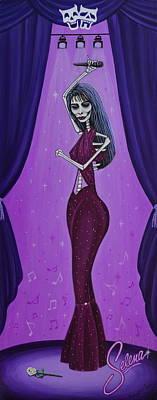 Painting - Selena - Last Dance by Evangelina Portillo