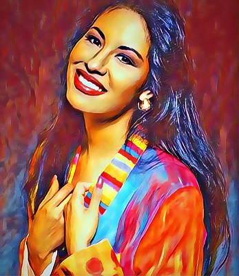 Digital Art - Selena Queen Of Tejano  by Karen Showell