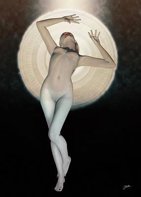 Digital Art - Selene Goddess Of The Moon by Joaquin Abella Ojeda