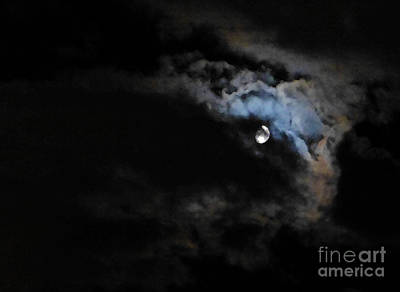 Selene Peaking From The Clouds Art Print by As the Dinosaur Flies Photography