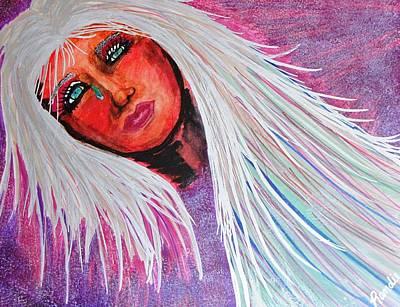 Silver Turquoise Mixed Media - Selene by Randie Lee