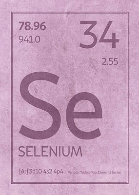 Periodic Table Wall Art - Mixed Media - Selenium Element Symbol Periodic Table Series 034 by Design Turnpike