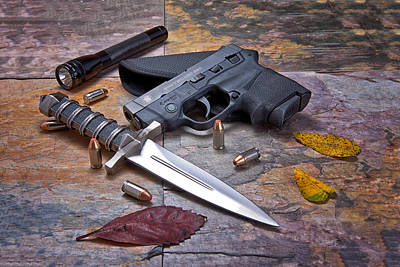 Ammo Photograph - Self Defense Still Life by Tom Mc Nemar