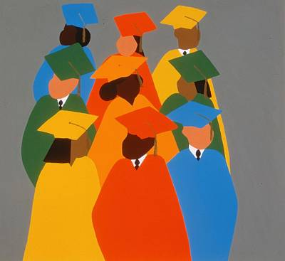 Education Painting - Self Determination by Synthia SAINT JAMES