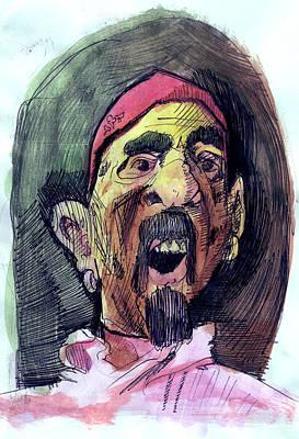 Self In Pirate Mask Art Print by John Baker