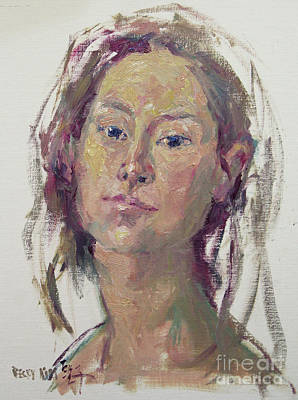 Painting - Self Portrait 1602 by Becky Kim