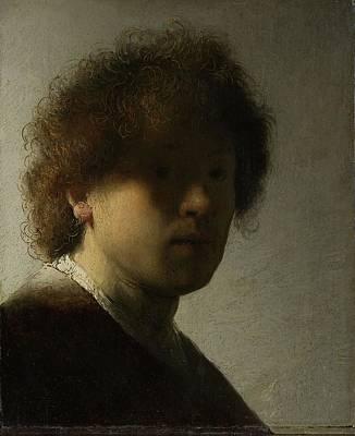 Self View Painting - Self-portrait, 1628 by Rembrandt Harmensz van Rijn
