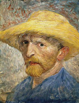 Self Portrait 1887 With Straw Hat 02 Art Print