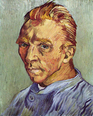 Self Portrait 1889 Without Beard Art Print