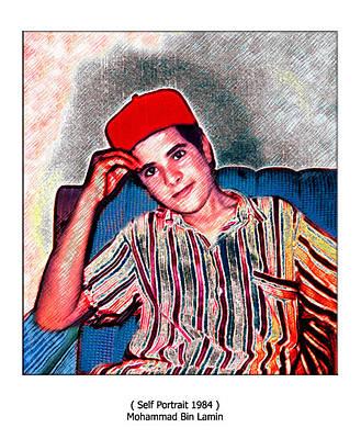 Mohammad Digital Art - Self Portrait 1984 by MBL Binlamin