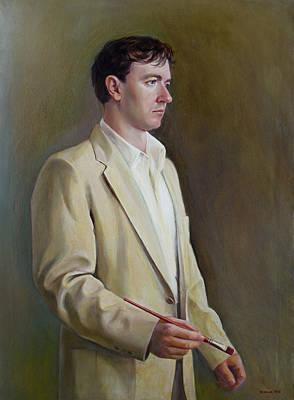 Art Print featuring the painting Self-portrait 1998 by Svitozar Nenyuk