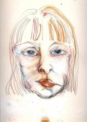 Self-portrait Drawing - Self Portrait #2 by Carolyn Weltman