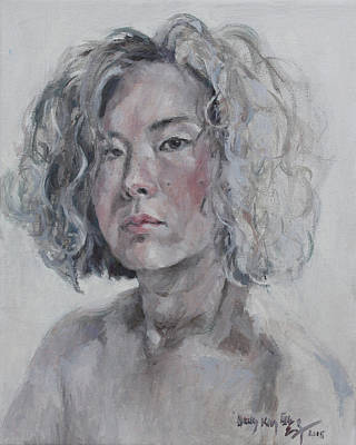 Painting - Self Portrait 1501 by Becky Kim