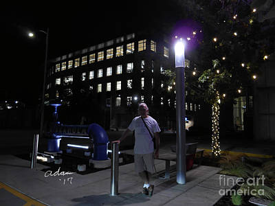 Photograph - Self Portrait 5 - Night Photography Austin Texas by Felipe Adan Lerma