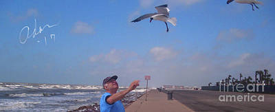 Photograph - Self Portrait 6 - On Galveston Seawall Circa 2010 by Felipe Adan Lerma