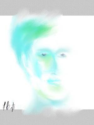 Digital Art - Portrait Abstract by Frank Bright