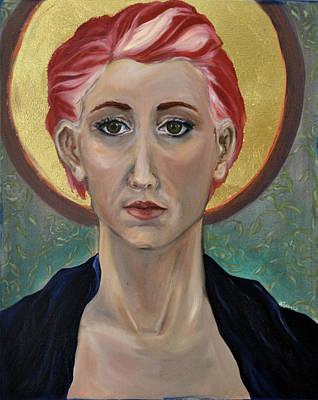Self Portrait As A Common Saint Print by Amy Rouyer