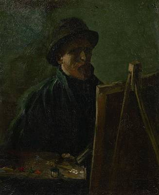 Painting - Self Portrait As A Painter Paris, September - November 1886 Vincent Van Gogh 1853  1890 by Artistic Panda