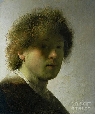 Rembrandt Painting - Self Portrait As A Young Man by Rembrandt
