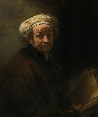 Bible Art Painting - Self-portrait As The Apostle Paul by Rembrandt