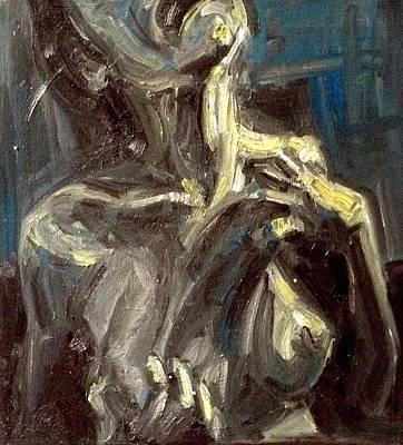 Self Portrait  Original by Ashael Shewionkova