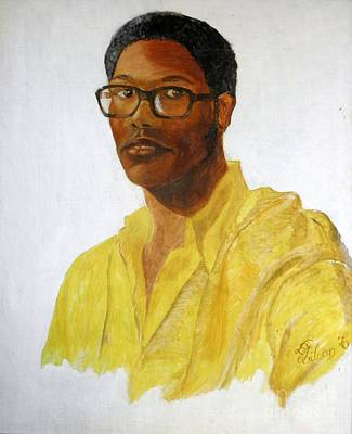 Painting - Self Portrait At 22 by David G Wilson