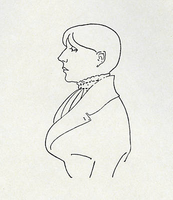 Self Drawing - Self Portrait by Aubrey Beardsley