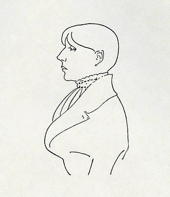 Self-portrait Drawing - Self Portrait by Aubrey Beardsley
