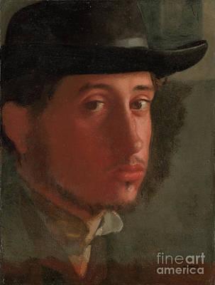 Self-portrait By Edgar Degas  Art Print by Esoterica Art Agency
