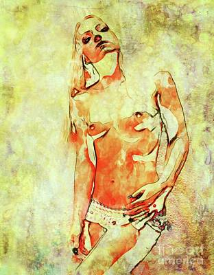 Burlesque Digital Art - Self Portrait By Mary Bassett by Mary Bassett
