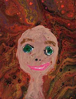 Painting - Self Portrait by Catherine G McElroy