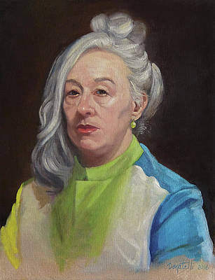 Painting - Self Portrait Chinese Jacket by Kathryn Donatelli