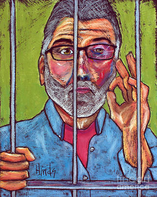 Outsider Art Painting - Self Portrait by David Hinds