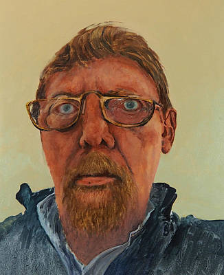 Painting - Self Portrait by E Colin Williams ARCA
