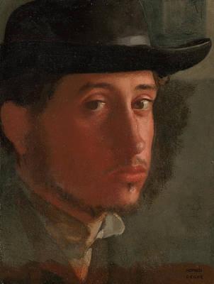 Self-portrait Print by Edgar Degas