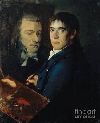 Self-portrait Painting - Self Portrait by Celestial Images