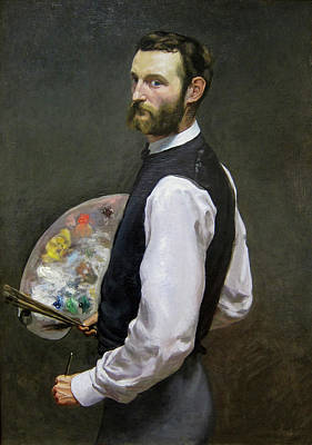 Standing Painting - Self-portrait by Frederic Bazille