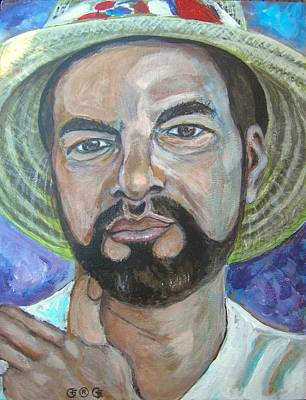 Painting - Self Portrait by George I Perez