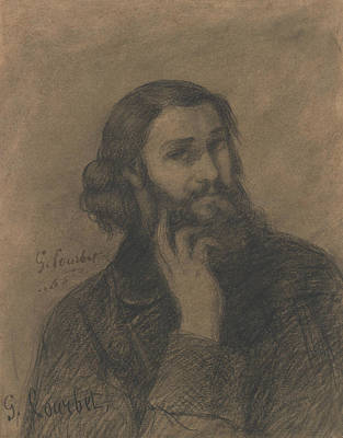 Drawing - Self-portrait by Gustave Courbet