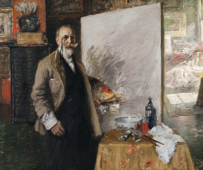 Painting - Self Portrait In 4th Avenue Studio by William Merritt Chase